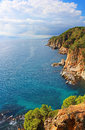 Costa brava coast near tossa de mar spain Stock Photo