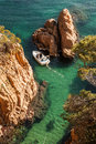Costa brava coast picturesque and turquiose Royalty Free Stock Image