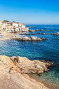 Costa brava coastline of calella de palafrugell Royalty Free Stock Photos