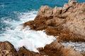 Costa Brava landscape near Lloret de Mar (Spain) Royalty Free Stock Photography