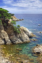 Costa Brava landscape near Lloret de Mar, Spain. Royalty Free Stock Photo
