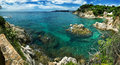 Costa brava landscape near lloret de mar spain catalonia Stock Photos