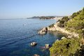 Costa brava near the resort of lloret de mar Royalty Free Stock Images