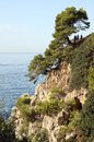 Costa brava near the resort of lloret de mar Stock Image