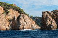 Costa brava near tossa de mar spain Royalty Free Stock Photography