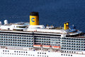 Costa cruises a close up of the italian cruise ship mediterranea Stock Images