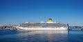 Costa luminosa docked at the port of tallinn estonia july cruise ship crociere company estonia Royalty Free Stock Photography