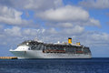 Costa mediterranea cruise ship bridgetown harbour in barbados in the lesser antilles east of the windward islands january waiting Stock Photo