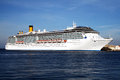 Costa mediterranea the cruise ship in the port of katakolon in greece Royalty Free Stock Image