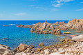 Costa paradiso rocky shore on a clear day Royalty Free Stock Photos