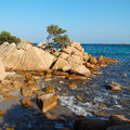 Costa smeralda capriccioli beach in sardinia Royalty Free Stock Photography