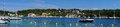 Costal panorama from greek island of cephalonia a panoramic scene the holiday Stock Photos