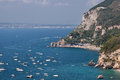 Costiera amalfitana view of a beach from vico equense in the amalfi coast Royalty Free Stock Photos