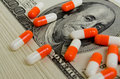 Costly medicines speculation and pharmaceutical fraud concerns Royalty Free Stock Image