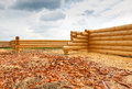 Costruzione della casa dai ceppi di legno Fotografie Stock Libere da Diritti