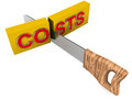Costs cutting Royalty Free Stock Photo
