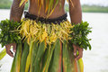Costume of a dancer in the south pacific young man an tropic island nuku aslofa tonga wearing traditional for dances Royalty Free Stock Photography