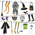 Costume halloween clothesline зажима искусства Стоковые Изображения