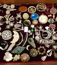 Costume jewellery collection Royalty Free Stock Photo
