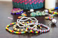 Costume jewelry for  woman Royalty Free Stock Photo