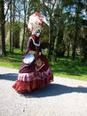 Costume parade in annevoie gardens wallonia of belgium Royalty Free Stock Photos