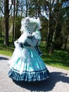 Costume parade in annevoie gardens wallonia of belgium Stock Photography