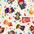 Costume party seamless pattern Royalty Free Stock Photo