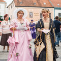 Costumed entertainers on the streets of Varazdin