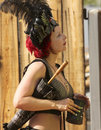 A costumed participant at the arizona renaissance festival apache junction march on march near apache junction in costume Royalty Free Stock Image
