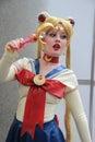 Costumi di cosplayers ed accessori di modo d uso all anime exp Fotografia Stock Libera da Diritti