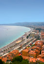 Cote d'Azur in city of Nice Royalty Free Stock Photos