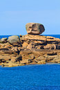 Cote de granite Rose, Brittany Coast Royalty Free Stock Photography