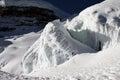 Cotopaxi glacier of in ecuador Stock Photos