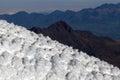 Cotopaxi glacier of in ecuador Royalty Free Stock Photos