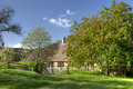 Cotswold cottage in spring Royalty Free Stock Photo