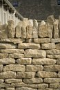 Cotswold drystone wall Royalty Free Stock Photo