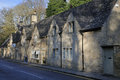 Cotswold stone cottages bibury gloucestershire Royalty Free Stock Photos