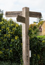 Cotswold way signpost in cotswolds for long distance path or district of southern england the autumn Stock Photo