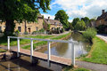 Cotswolds village of Lower Slaughter Royalty Free Stock Photo