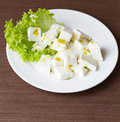 Cottage cheese healthy salad with Royalty Free Stock Images