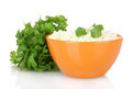 Cottage cheese with parsley Royalty Free Stock Photos