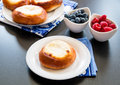 Cottage cheese pastry pie vatrushka in russian cuisine pies selective focus Stock Photos
