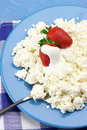 Cottage cheese with strawberries Stock Photo