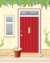 Cottage door Royalty Free Stock Photography