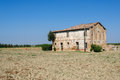 Cottage on farmland in italy Stock Photos