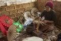 Cottage Industry - Myanmar (Burma) Royalty Free Stock Photo