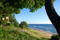 Cottage on Lake Michigan Royalty Free Stock Photos
