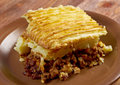 Cottage pie traditional british home cooking Royalty Free Stock Photo