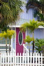 Cottage with pink door Royalty Free Stock Photo