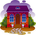 Cottage. Vector illustration Stock Photo